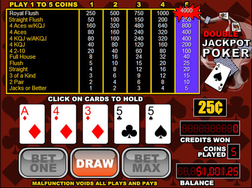 Video Poker With A Double Jackpot Sign Me Up Coded Casino Betting